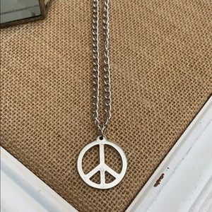 Jewelry - 💚💚3/$15 Peace necklace nice and long